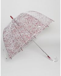 Lulu Guinness - Birdcage Umbrella In Cut Out Polka Dot - Lyst