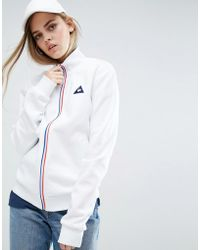 Le Coq Sportif - Sweat Bomber Jacket With Tricolores Zip - Lyst
