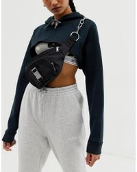 ASOS Seat Belt Buckle And Chain Detail Fanny Pack