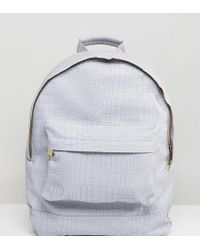 Mi-Pac - Exclusive Faux Croc Backpack In Grey - Lyst