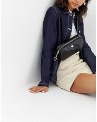ASOS - Quilted Fanny Pack With Stud Detail - Lyst