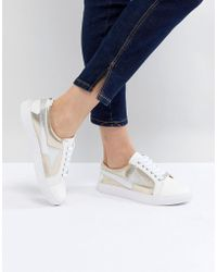 Dune - Lightening Lace Up Trainers - Lyst