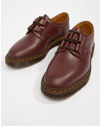 Dr. Martens - Henton Ghillie Shoes In Oxblood - Lyst