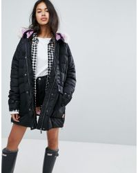 HUNTER - Original Water Resistant Padded Parka With Contrast Hood - Lyst