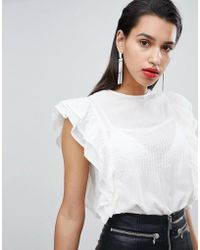 Y.A.S - Ruffle Detail Cotton Blouse - Lyst