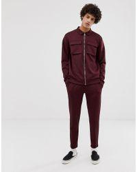 ASOS - Veste Harrington avec poches devant et pantalon de jogging en polyester - Lyst
