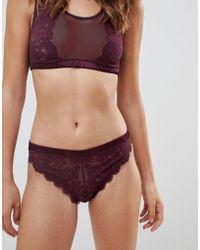 Stella McCartney - Stella Mccartney Julia Juggling Lace High Leg Bikini Brief - Lyst