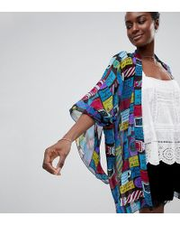 Anna Sui - Exclusive Slogan Kimono - Lyst