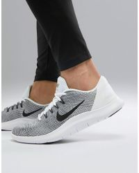 Nike - Flex 2018 Trainers In White Aa7397-100 - Lyst