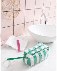 Mango - Stripe Plastic Cosmectic Bag In Green Multi - Lyst