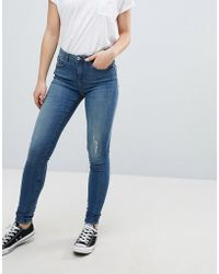 B.Young - Skinny Distressed Jeans - Lyst