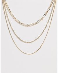 Pieces 3 In 1 Necklace - Metallic