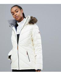 Roxy - Quinn Ski Jacket In White - Lyst