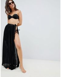 863a26cfa Black Tie Side Maxi Beach Skirt - Image Of Tie