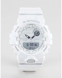 G-Shock - G-shock Gba-800-7aer Digital Silicone Hybrid Smart Watch In White - Lyst