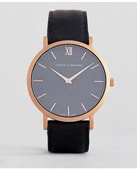Larsson & Jennings - Sloane Leather Watch In Black 40mm - Lyst