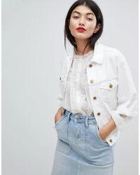 Pepe Jeans - Crop Sleeve Denim Jacket - Lyst