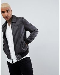 Goosecraft - Zagreb Leather Bomber Jacket In Brown - Lyst