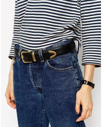 ASOS - Design Vegan Tipped Jeans Belt In Water Based Pu - Lyst
