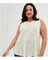 82f22f5ae1bb83 ASOS Sleeveless Origami Top in Natural - Lyst