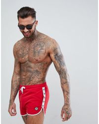 Hype - Runner Swim Shorts In Red With Side Stripes - Lyst