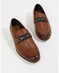 ALDO - Gwiradien Bar Loafers In Tan Leather - Lyst