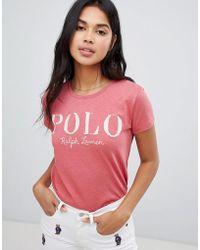 Polo Ralph Lauren - Textured Logo T-shrit - Lyst