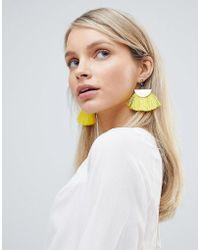 South Beach - Yellow Tassel Earrings - Lyst