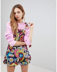 Love Moschino - Surprises Printed Playsuit - Lyst