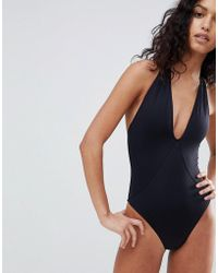 French Connection - Plunge Swimsuit - Lyst