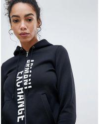 Armani Exchange - Spliced Logo Zip Through Hoody - Lyst