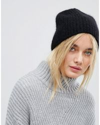Weekday | Mohair Mix Ribbed Beanie | Lyst