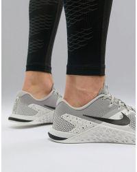 Nike - Metcon 4 Training Shoe In Grey Ah7453-005 - Lyst