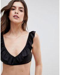 Y.A.S - Frill Bikini Top - Lyst