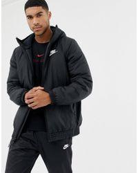 Nike - Padded Windbreaker In Black 928861-010 - Lyst
