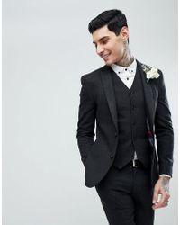 916fc5a4d8fec6 ASOS Asos Wedding Super Skinny Suit Jacket In Champagne Floral for Men -  Lyst