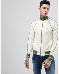 Pretty Green - Clandestine Track Sweat In Stone - Lyst