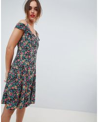 Mango - Floral Button Through Sundress In Multi - Lyst