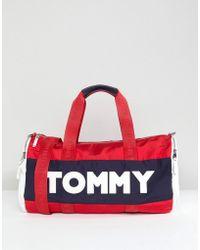 Tommy Hilfiger - Logo Colour Block Nylon Barrel Holdall - Lyst
