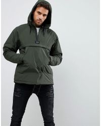 Pull&Bear - Jacket With Half Zip In Khaki - Lyst