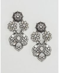 ALDO - Doring Floral Statement Embellished Earrings - Lyst