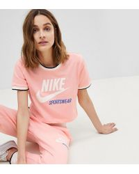 Nike - Archive Ringer T-shirt In Pink - Lyst