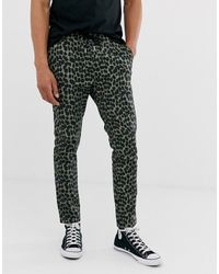 ASOS - Skinny Trousers In Abstract Animal Print - Lyst