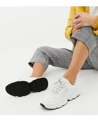 Monki - Chunky Trainers In White - Lyst