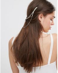 Kat&bee - Kat & George Chain Joined Hair Combs With Skull - Lyst