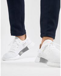 f8d1571197fda Lyst - adidas Originals Deerupt Sneakers In Black B41768 in Black ...