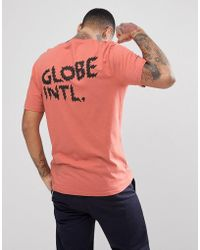 Globe - Zap T-shirt With Back Print In Dusty Coral - Lyst