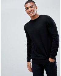 New Look - Jumper With Crew Neck In Black - Lyst