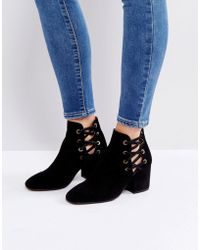 Hudson Jeans - Kris Suede Cut Out Ankle Boots - Lyst