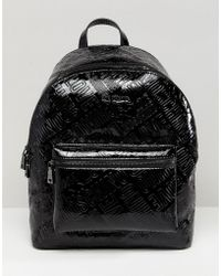 Love Moschino - Metallic Embossed Logo Backpack - Lyst